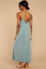 7 There Is Nothing Better Porcelain Green Maxi Dress at reddress.com