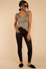 1 Ruffled Feathers Leopard Print Top at reddressboutique.com