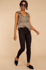 3 Ruffled Feathers Leopard Print Top at reddressboutique.com
