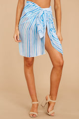 4 Tropic Trends Blue Multi Seaside Stripe Sarong at reddress.com