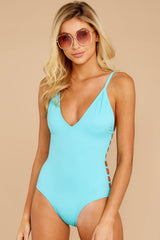 4 Kissed By Sunshine Cabo Blue One Piece at reddressboutique.com