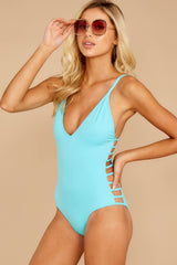 5 Kissed By Sunshine Cabo Blue One Piece at reddressboutique.com
