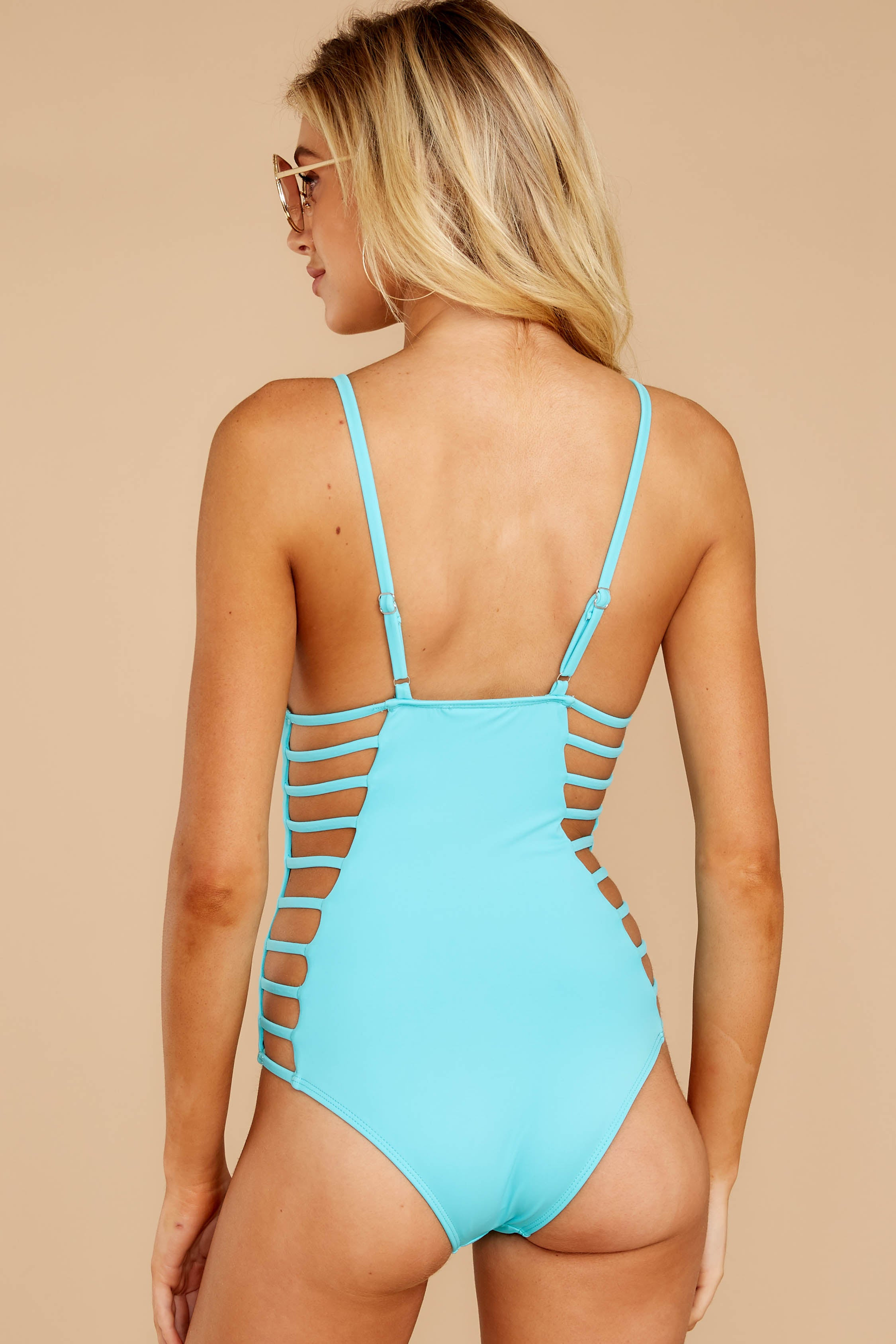 6 Kissed By Sunshine Cabo Blue One Piece at reddressboutique.com