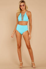 3 Catch A Wave Cabo Blue Bikini Top at reddressboutique.com