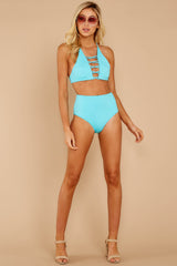 2 Catch A Wave Cabo Blue Bikini Top at reddressboutique.com