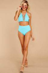 1 Catch A Wave Cabo Blue Bikini Top at reddressboutique.com