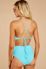 6 Catch A Wave Cabo Blue Bikini Top at reddressboutique.com