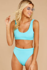 It's A Simple Life Cabo Blue Bikini Top