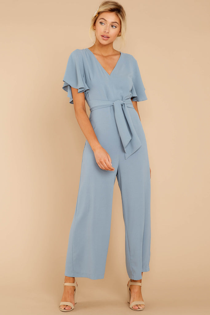 1 Never Disappointed Light Blue Snake Print Jumpsuit at reddressboutique.com