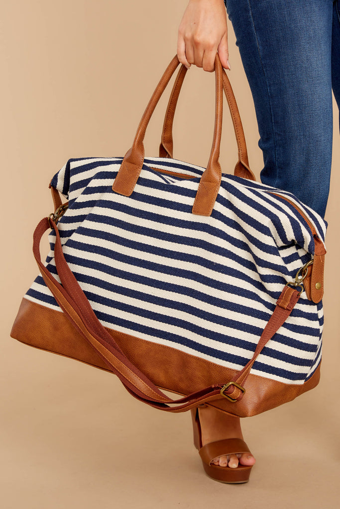 1 Got Vacay Plans Multi Stripe Weekender Bag at reddressboutique.com