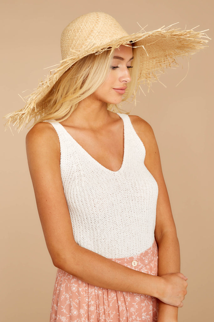 4 Everlasting Vacay Tan Hat at reddressboutique.com
