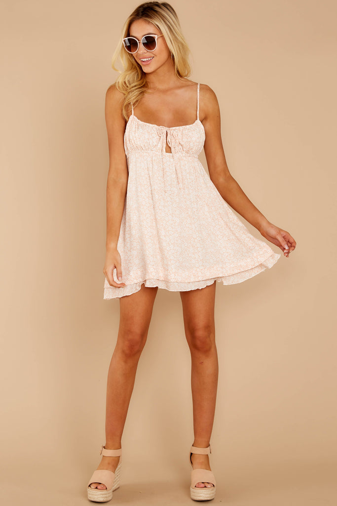 1 Out For A Stroll Ivory Print Romper at reddress.com