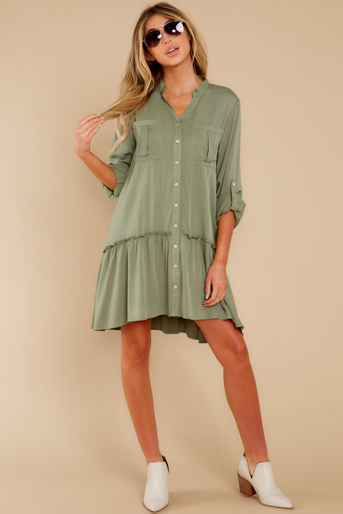 1 Dialed In Bright Emerald Green Print Dress at reddress.com