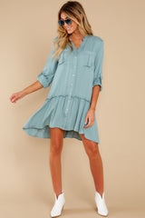 2 Stick By You Blue Haze Dress at redress.com