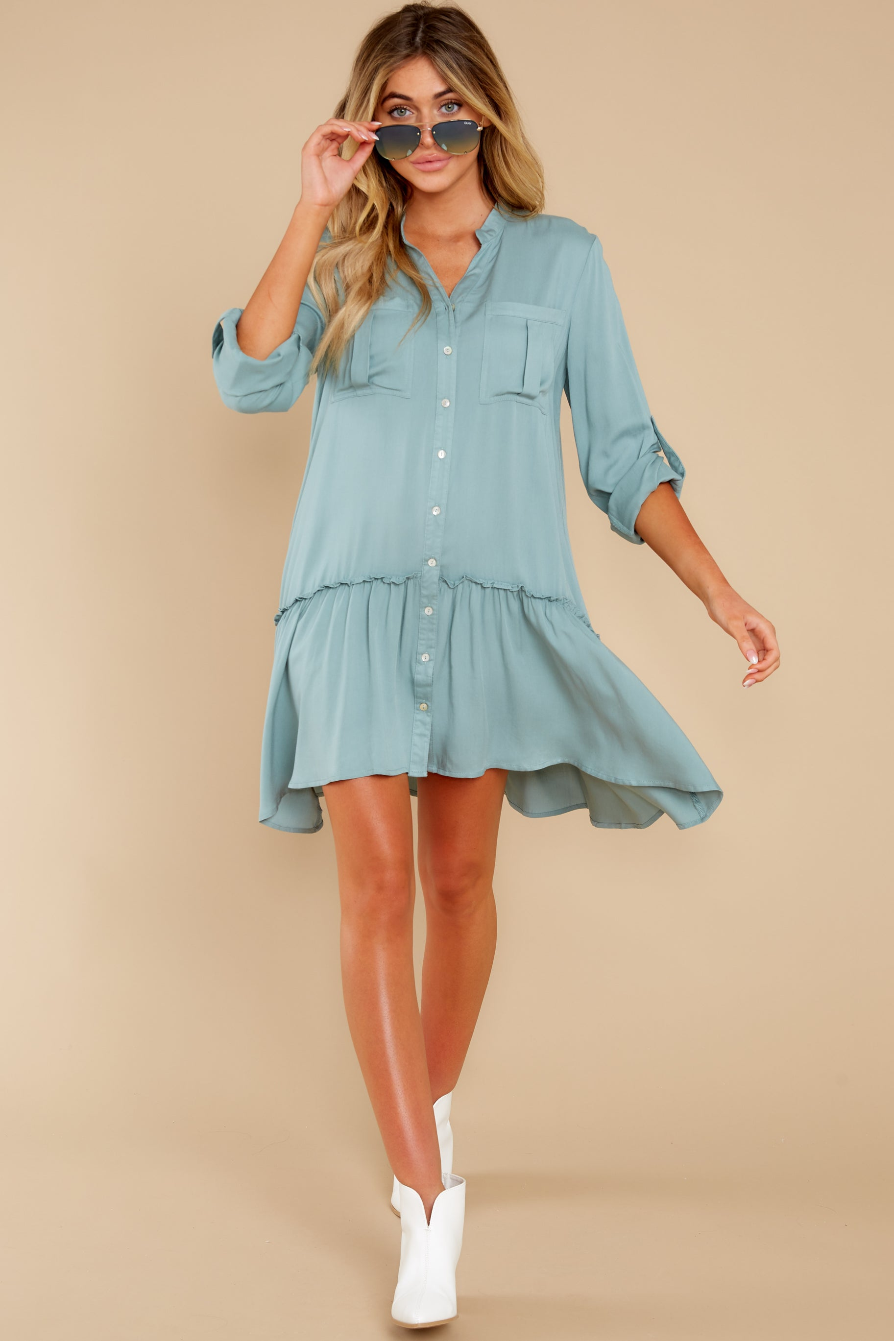 3 Stick By You Blue Haze Dress at redress.com