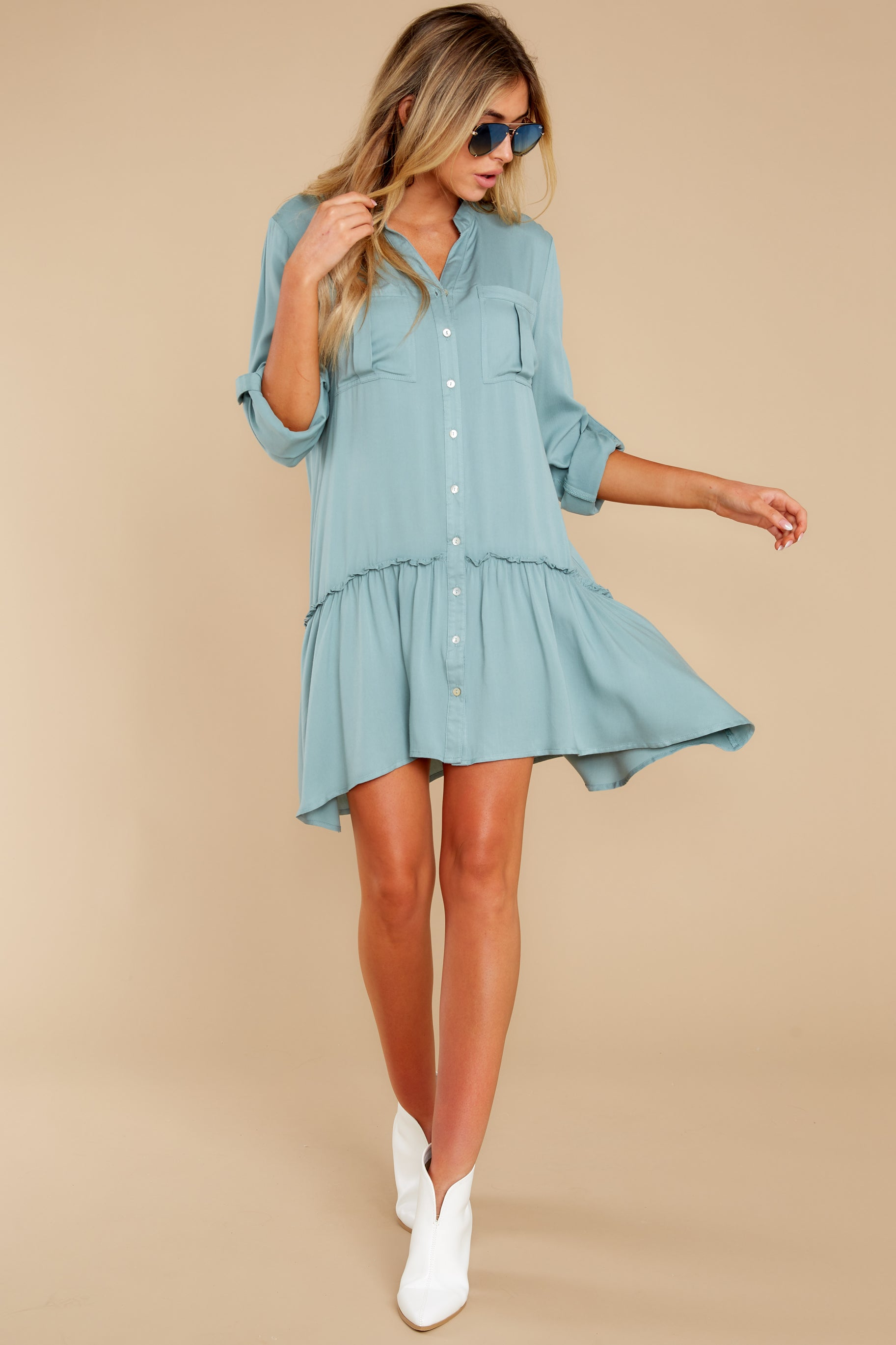 4 Stick By You Blue Haze Dress at redress.com