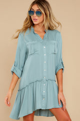 6 Stick By You Blue Haze Dress at redress.com