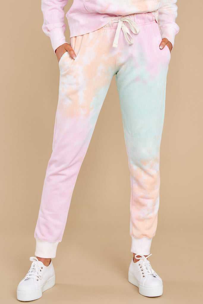 1 Feels Like Heaven Atlantis Blue Ombre Joggers at reddress.com