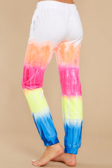 2 Relax Zone Neon Mirage Tie Dye Joggers at reddress.com