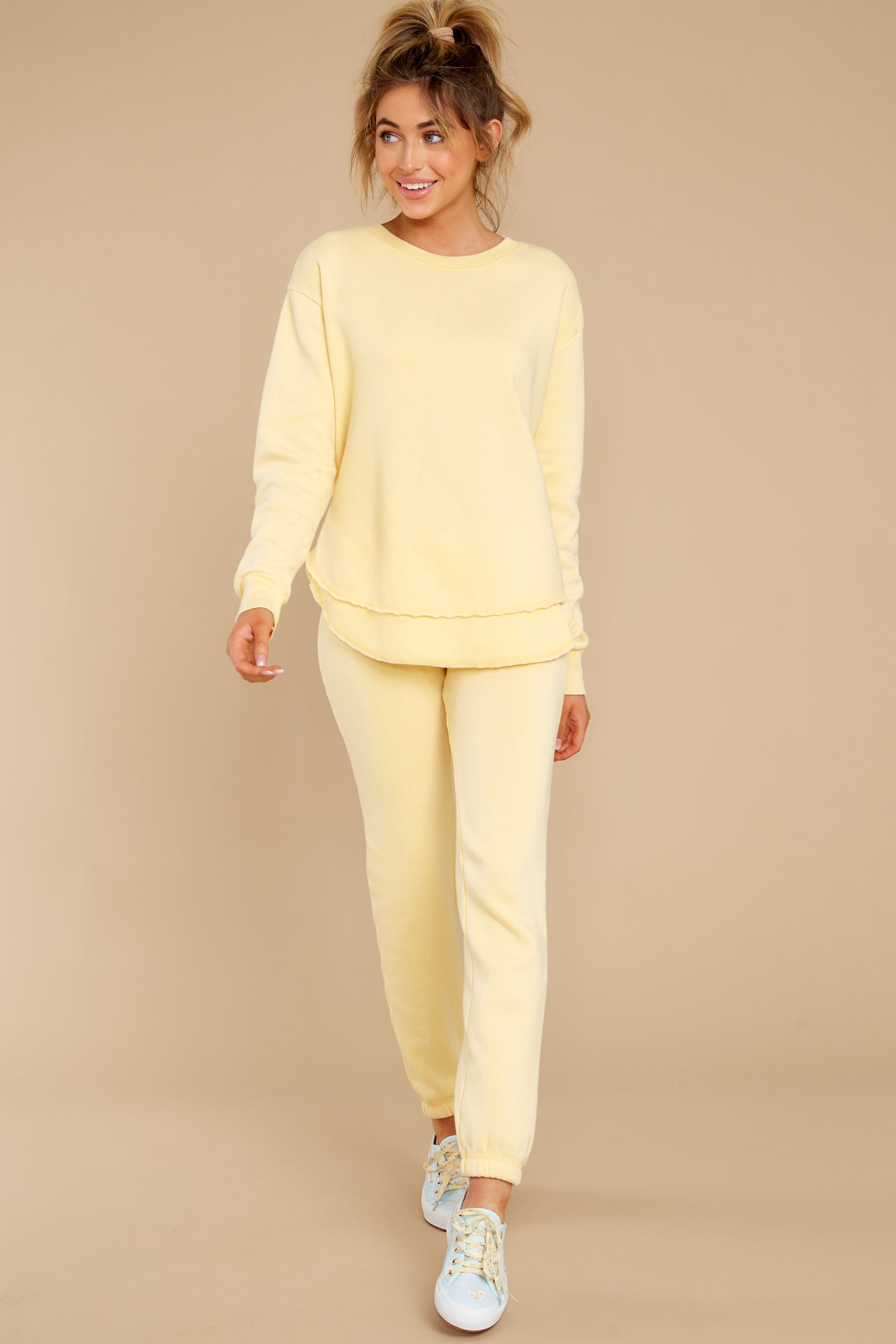 2 Divine Comfort Sunflower Yellow Pullover at reddress.com