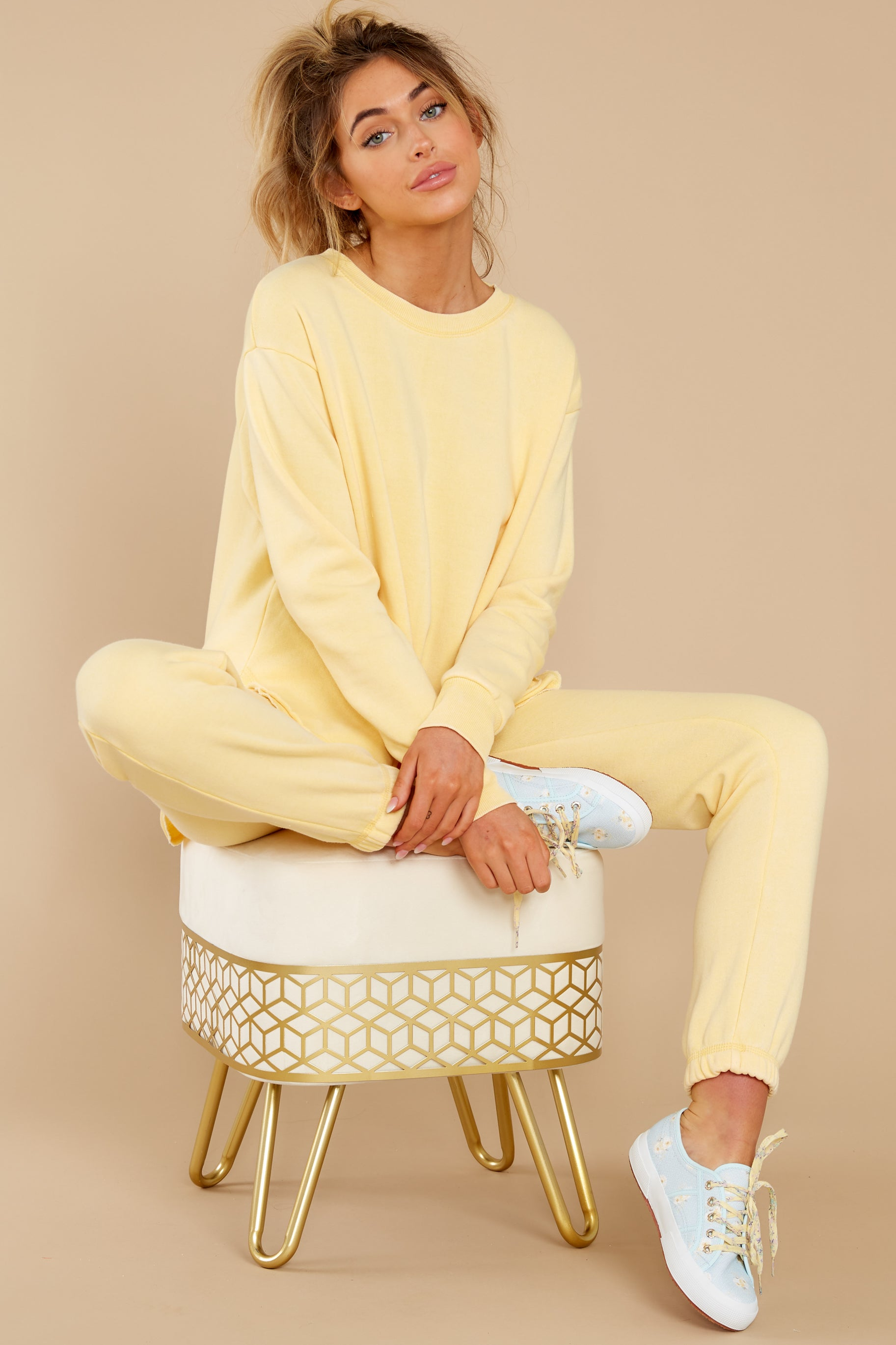 1 Divine Comfort Sunflower Yellow Pullover at reddress.com