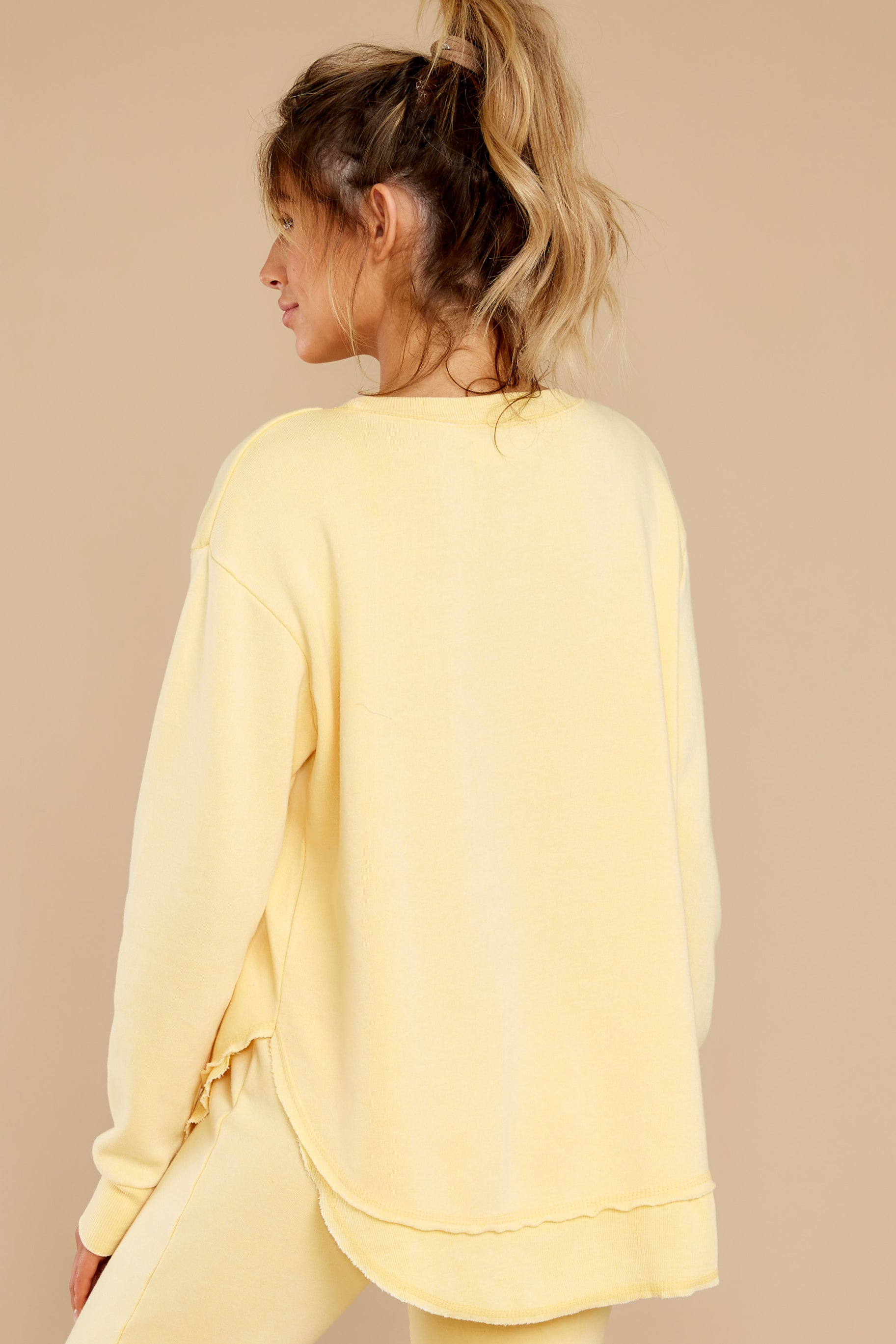 11 Divine Comfort Sunflower Yellow Pullover at reddress.com