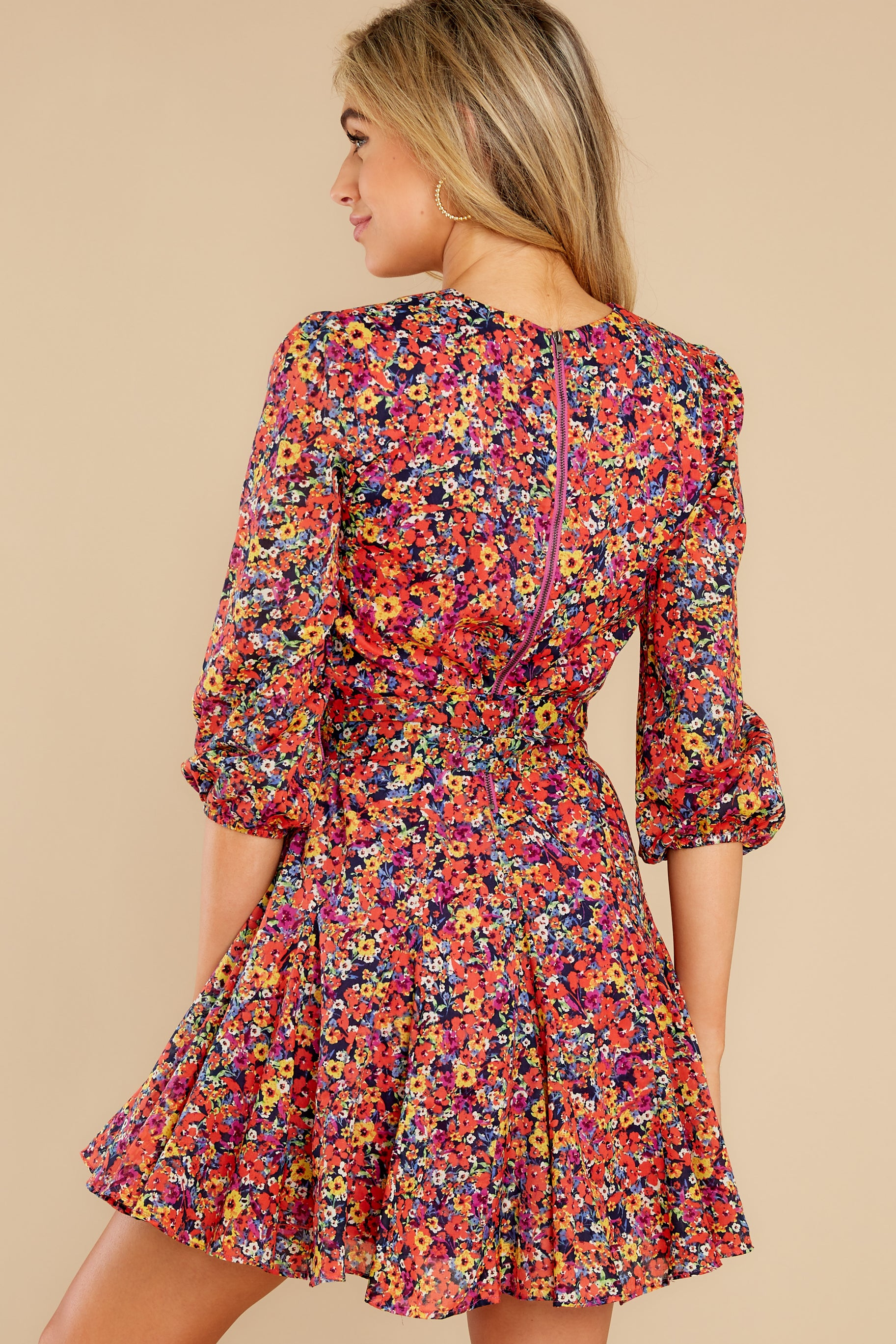 Chasing This Black Multi Floral Print Dress