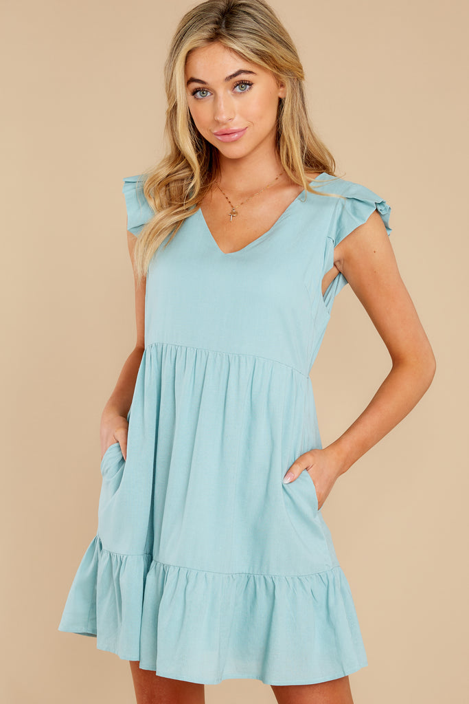 1 Forward Thinking Light Blue Floral Print Dress at reddress.com
