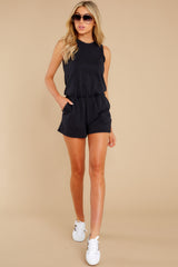4 The Washed Black Adira Cotton Romper at reddress.com