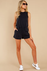 5 The Washed Black Adira Cotton Romper at reddress.com