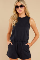 6 The Washed Black Adira Cotton Romper at reddress.com