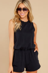 8 The Washed Black Adira Cotton Romper at reddress.com