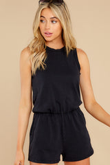 1 The Washed Black Adira Cotton Romper at reddress.com