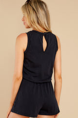 2 The Washed Black Adira Cotton Romper at reddress.com