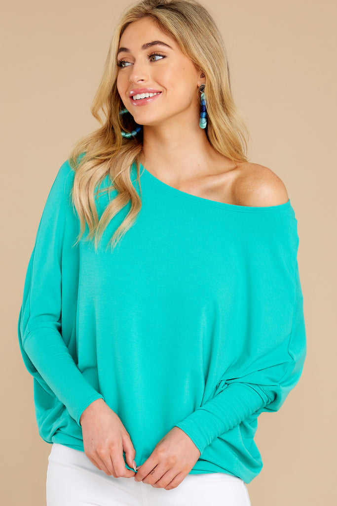 1 Wind Down Green Sweater at reddress.com