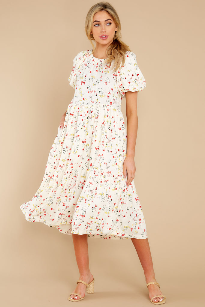 1 Out Of Envy  Multi Print Midi Dress at reddress.com