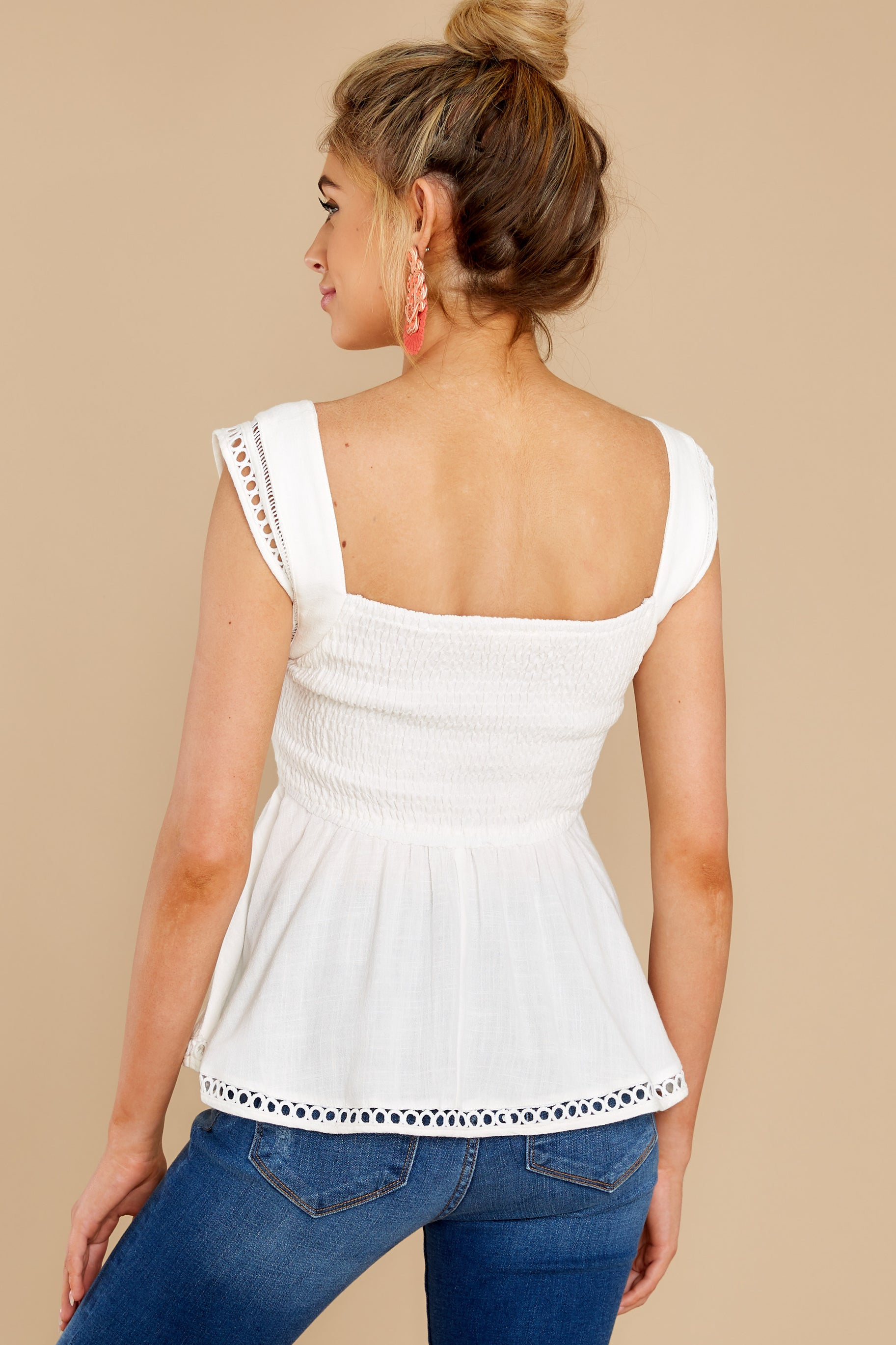 8 Looking Divine White Eyelet Top at reddress.com