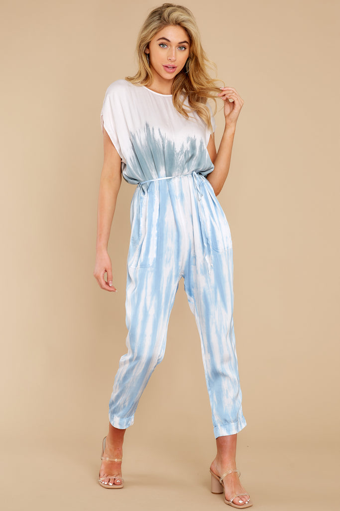 Checkmate Off White Floral Print Jumpsuit