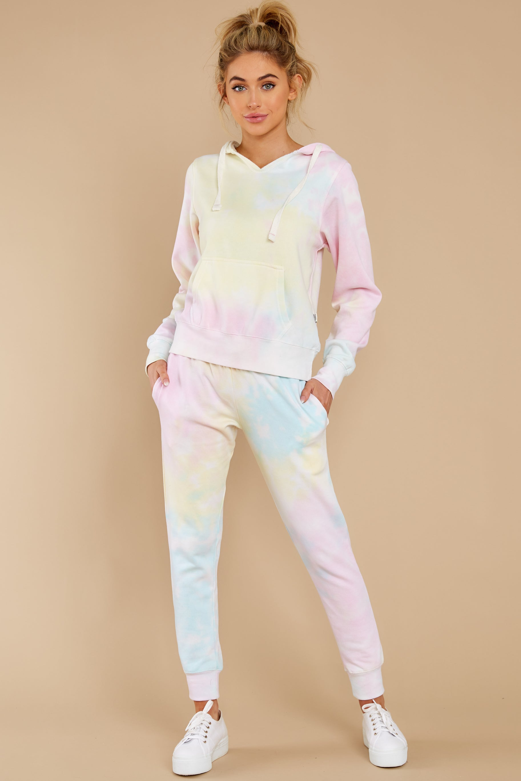 4 Electric Dreamer Sweet Confetti Tie Dye Joggers at reddress.com