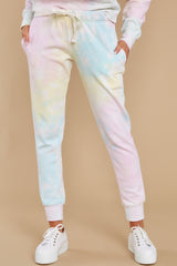 1 Electric Dreamer Sweet Confetti Tie Dye Joggers at reddress.com