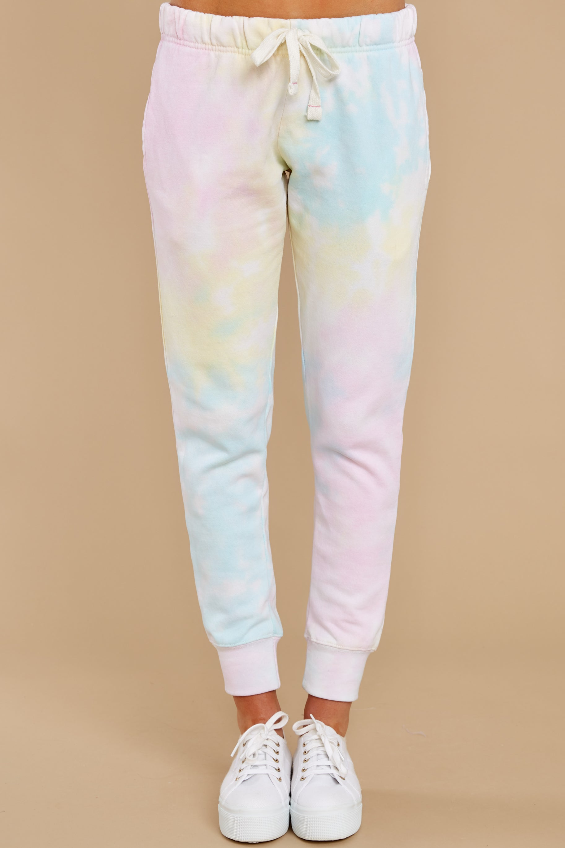 2 Electric Dreamer Sweet Confetti Tie Dye Joggers at reddress.com