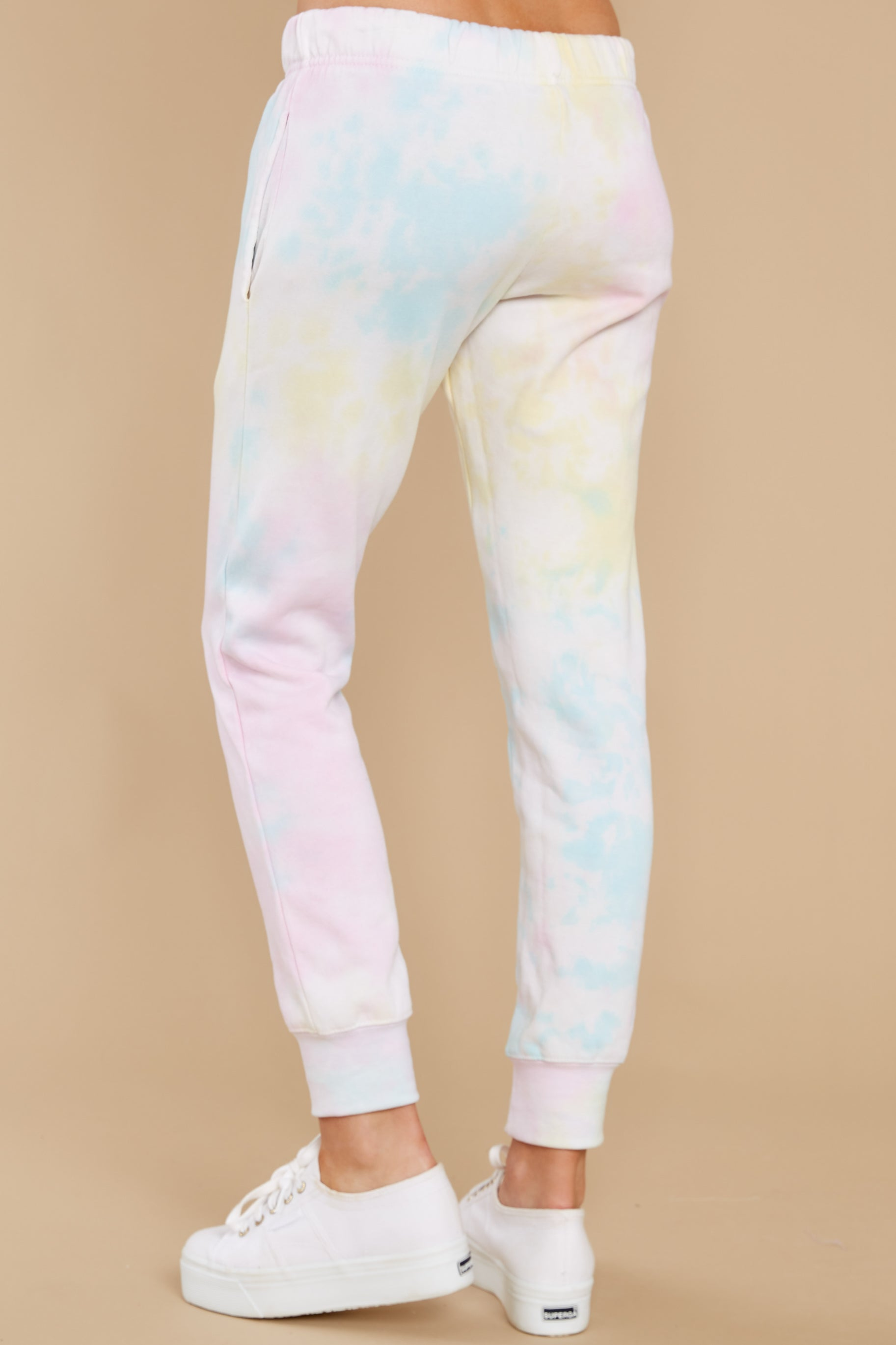 3 Electric Dreamer Sweet Confetti Tie Dye Joggers at reddress.com