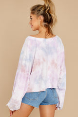 8 Feel Like Flying Lavender Multi Tie Dye Top at reddress.com