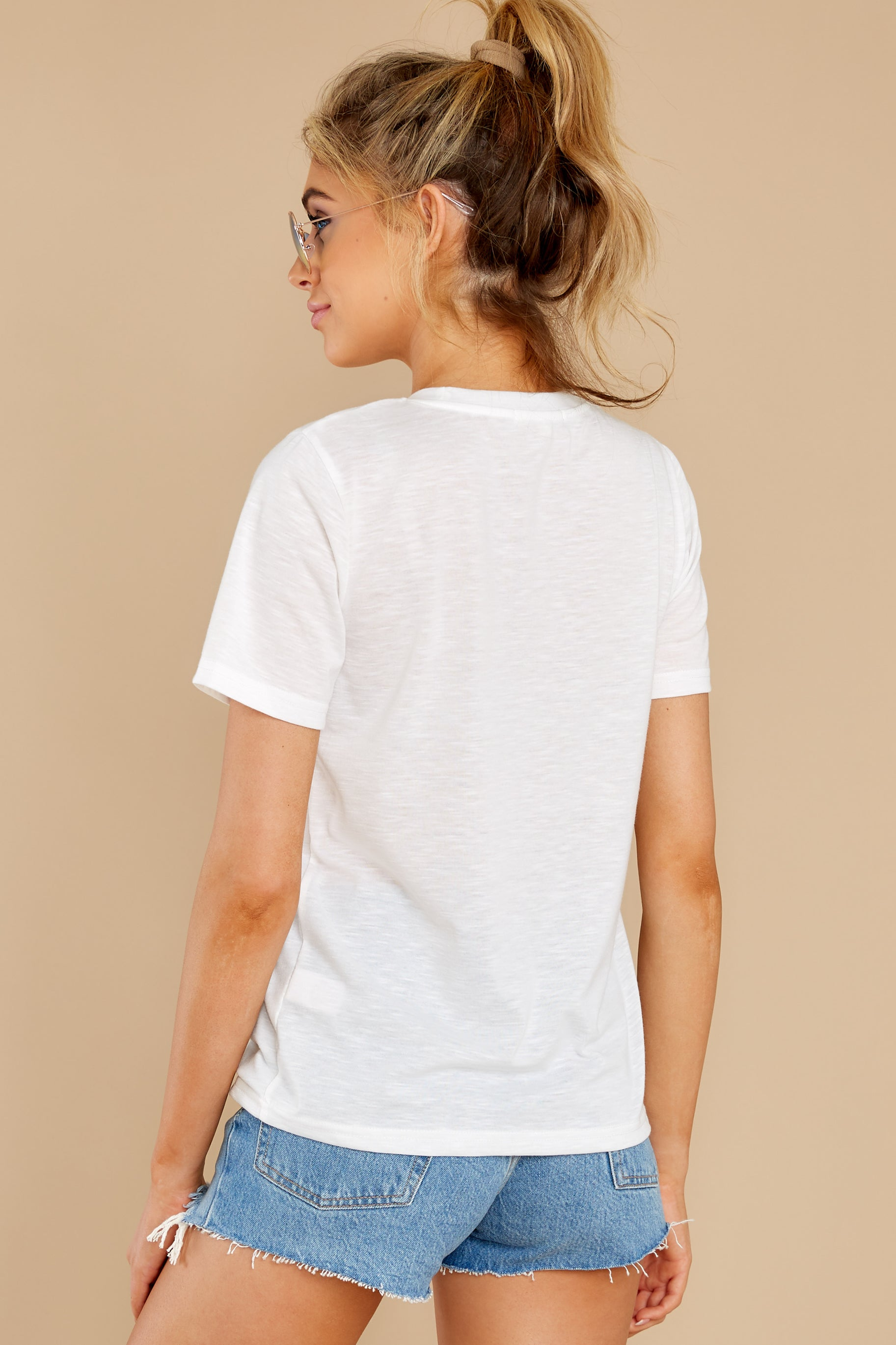 9 Cancun Is Calling White Multi Embroidered Tee at reddress.com