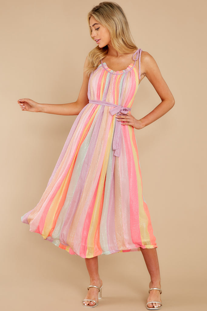 1 Stick Around Coral Maxi Dress at reddressboutique.com