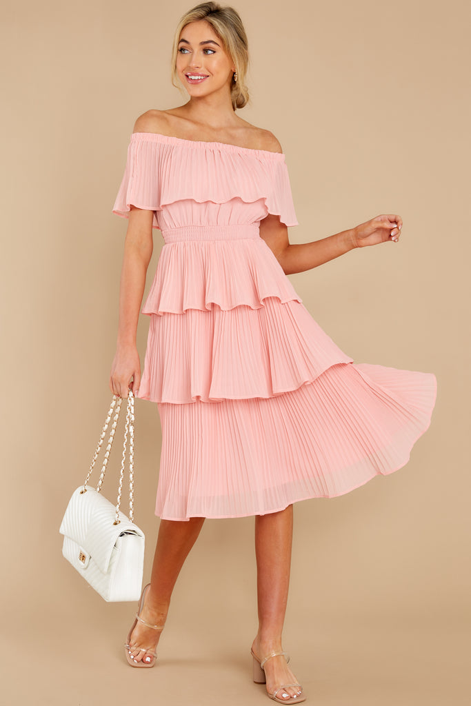 1 See It Happen Blush Pink Midi Dress at reddress.com