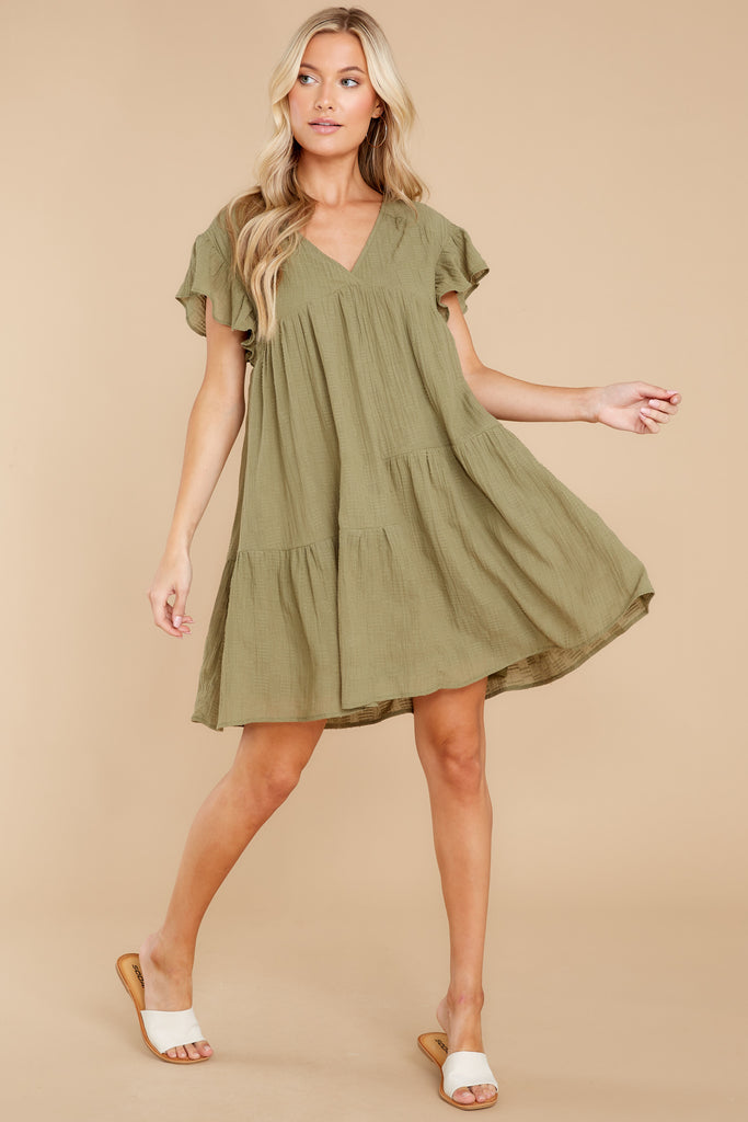 1 Endless Gratitude Olive Dress at reddress.com
