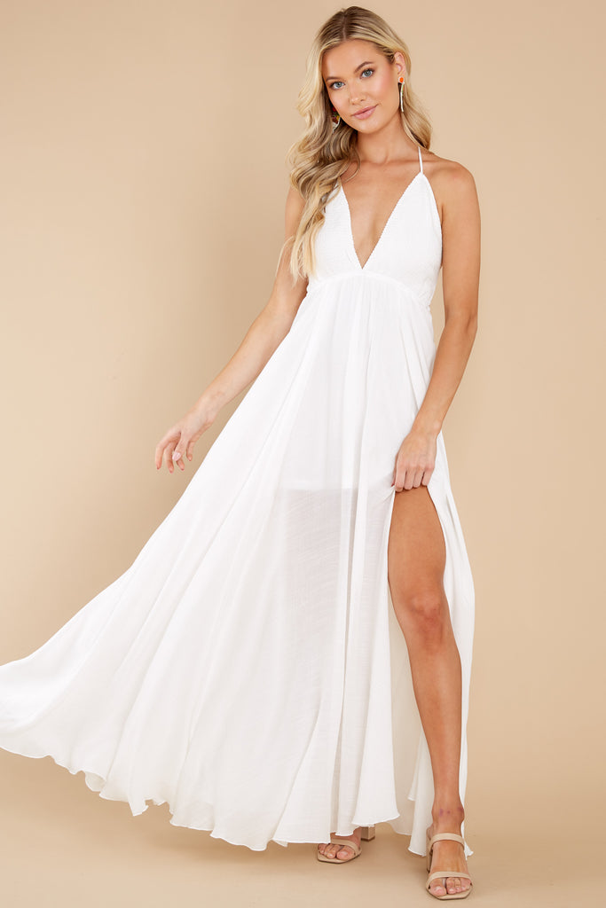 Easy To Admire White Maxi Dress 1 at reddress.com
