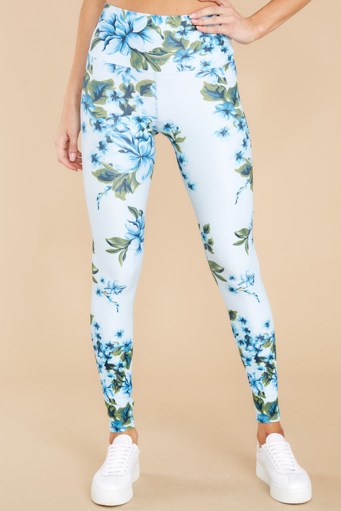 1 Piper Blue Floral Leggings at reddress.com