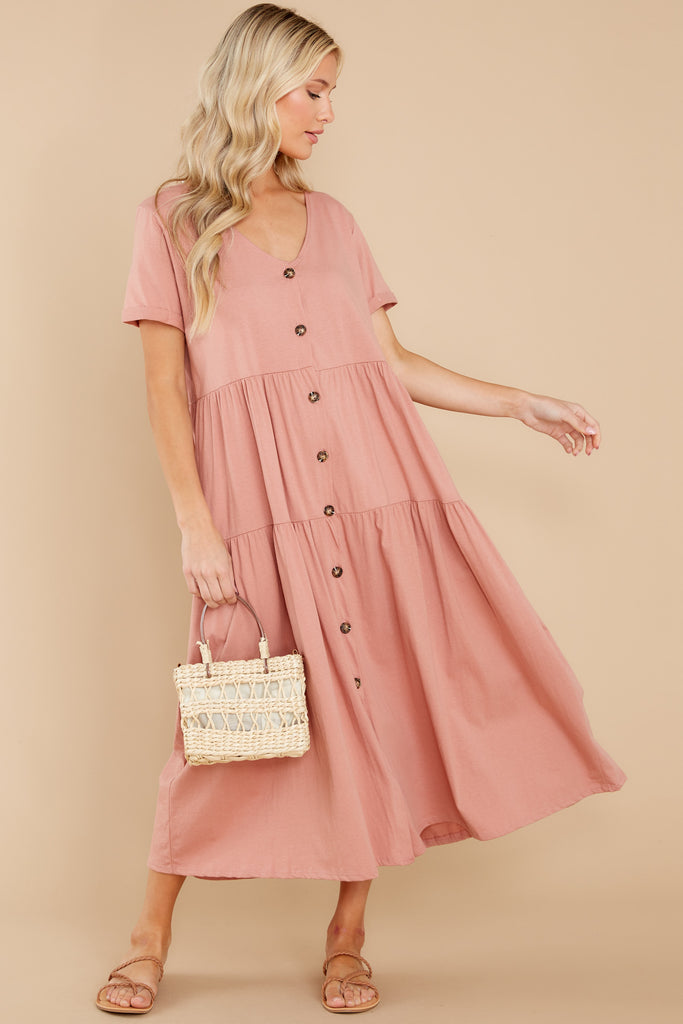 Racing Thoughts Blush Pink Maxi Dress 1 at reddress.com